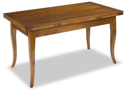 Tavolo massello allungabile gambe a sciabola tavoli in for Tavolo 140x80 allungabile legno