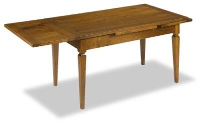Tavolo massello allungabile gambe a spillo tavoli in legno for Tavolo 140x80 allungabile legno