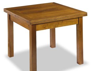 Tavolo massello a libro gambe quadrate tavoli in legno massello tavoli sedie - Tavolo fratino a libro ...