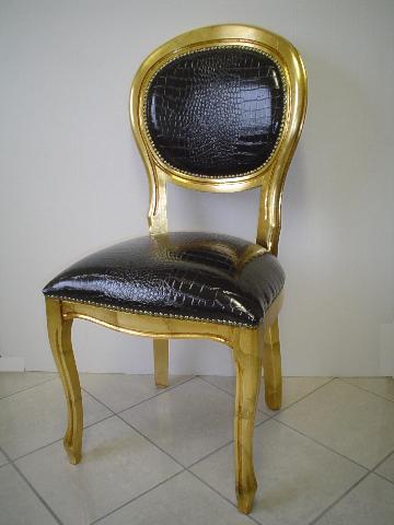 Sedia ovale foglia oro archivio novit e oggetti for Sedie particolari