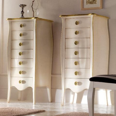 Cassettiera bombata art 717 g collezione charme mobili for Cassettiere design