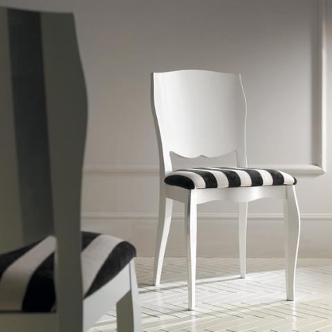 Sedia art 701 g collezione charme mobili for Sedie bianche e nere