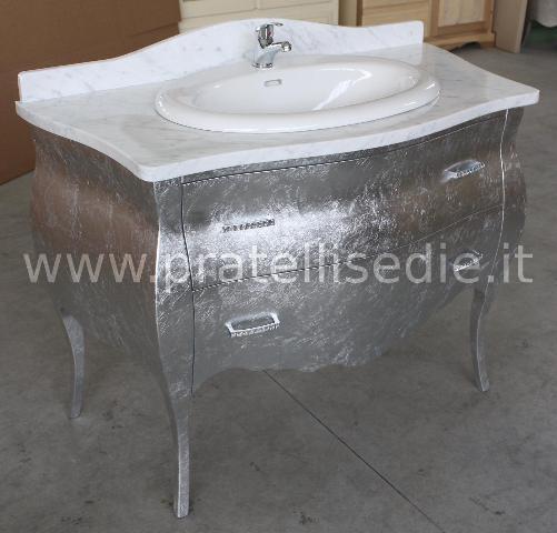 Mobile bagno barocco bombato 2 cassetti mobili da bagno for Arredo bagno barocco