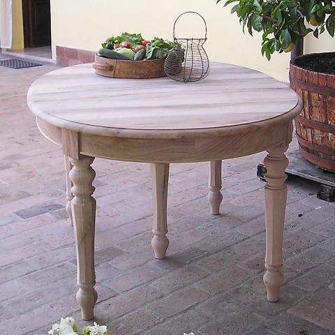 Tavolo ovale in noce massello 3 allunghe tavoli in legno - Tavolo in noce massello ...