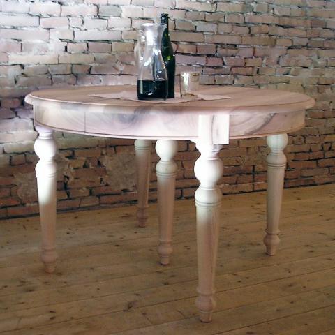 Tavolo rotondo in noce massello 3 allunghe tavoli in legno - Tavolo in noce massello ...