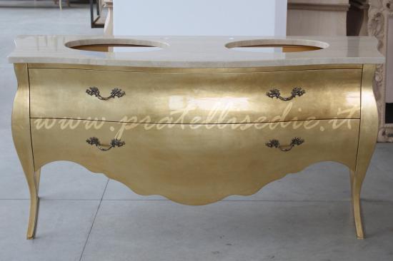 mobile bagno barocco con doppio lavabo