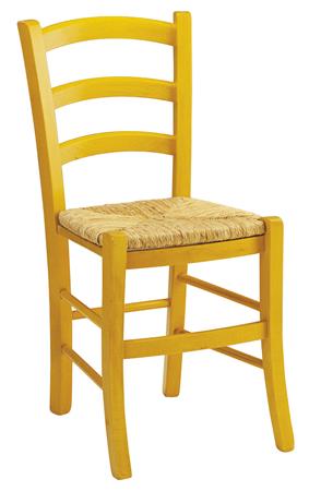 Sedia legno seduta paglia colori anilina verde rossa for Sedia ufficio gialla