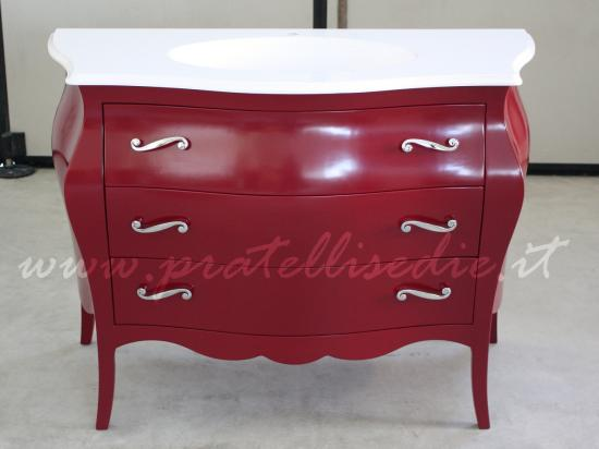 mobile bagno barocco rosso porpora ral 3004