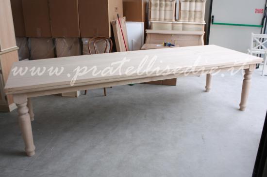 Tavolo in legno massello di castagno fisso,tavoli in legno ...