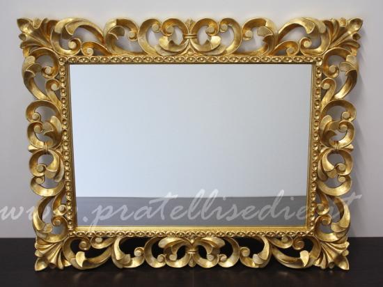 Specchiera barocca specchiere complementi pratellisedie - Specchio cornice nera barocca ...